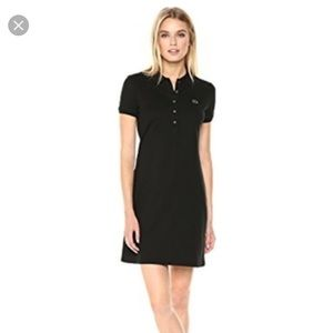 Lacoste stretch cotton mini pique polo dress 🖤